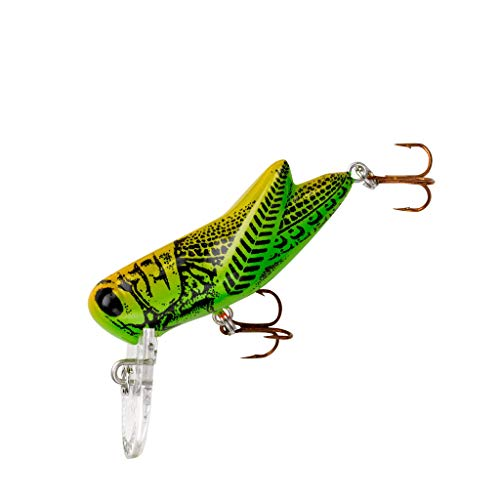 Rebel Bighopper Fishing Lure - Green Grasshopper, 1 3/4 inch (F73M0)