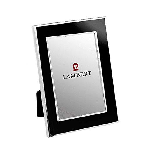 Lambert - Fotorahmen, Rahmen, Bilderrahmen - Portland - Emaille - Versilbert - Schwarz - Maße Foto (BxH): 10 x 15 cm