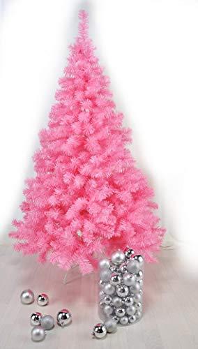 HI - Árbol de Navidad (plástico, 150 cm, con soporte), color rosa