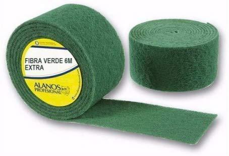 Alanos Profesional. Rollo de Estropajo Fibra Verde Extra 6 Metros Resistencia para Todo Tipo de limpiezas