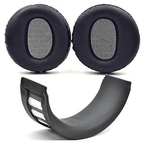 Defean Earpad Repair Parts Suit Replacement Ear Pad and Headband Pad Compatible with PS3 PS4 Wireless Stereo Headset CECHYA-0080 Headphones