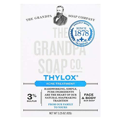Grandpas Thylox Acne Treatment Bar Soap with Sulfur - 3.25 oz - Vegetable Based - Since 1878