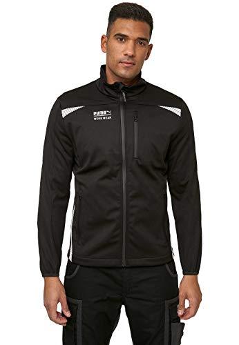 PUMA WORK WEAR Premium Arbeitsjacke - Softshelljacke aus robustem Gewebe und Reflektoren - Schwarz - Gr. XL