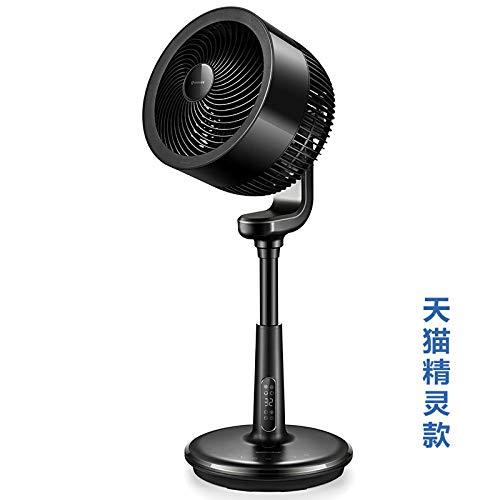 XIAOTAIZINAI Airmate Bodenluftumwälzventilator Turbine Konvektionsventilator Landung Leafless Haushalt Vertikaler Desktop Kleiner elektrischer Ventilator Mute-Black_EU