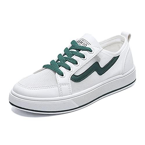 Berniee Zapatillas de deporte de malla para mujer, informales de moda para verano para estudiantes zapatos de juventud ligeros transpirables para caminar zapatos para correr