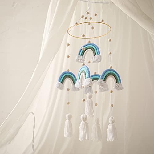 Promise Babe - Móvil para cama de bebé para recién nacido, móvil para colgar, arcoíris, para cama de bebé, cuna/decoración, regalo (azul)