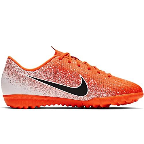 Nike Jr Vapor 12 Academy PS TF, Zapatillas de fútbol Sala Unisex niño, Multicolor (Hyper Crimson/Black/White 000), 31 EU