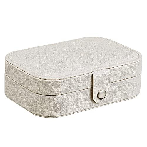 Caja de almacenamiento de joyería, caja de joyería de pendiente femenino fresco y simple, caja de almacenamiento de joyas de anillo de pendientes