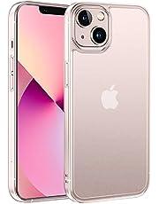 NIMASO ケース iPhone13 mini 用 カバー iphone13ミニ 対応 半透明 ケース 強化ガラス マットタイプ 指紋防止 アンチグレア 5.4インチ アイホン13ミニ 用 NSC21H291