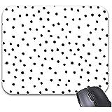 Smity Black Polka Dots Alfombrilla de ratón 30 * 25 * 0.3 cm Alfombrilla de ratón Alfombrillas de ratón de Moda Accesorio de Escritorio de Oficina de Moda
