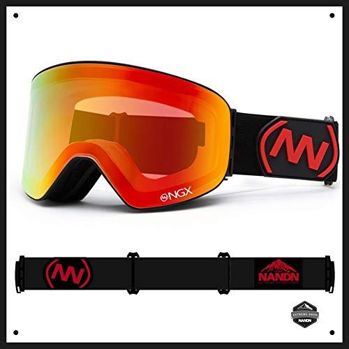 WUIO Skibril, dubbellaags, UV400, anti-condens-coating, grote skibril, voor dames en heren, snowboard