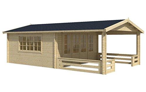 Blockhaus LINZ 540 x 540cm + Veranda Gartenhaus 58mm Holzhaus