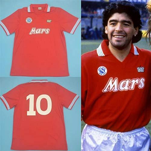 Diego Maradona # 10 Napoli 1988-89 Maglia da calcio retrò Argentina, la figura 2 è la figura del vero colpo (M)