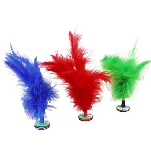 STOBOK - 10 Piezas Kick Feather Volani Pie Sport Juguete Juegos Chinos Jianzi Kicking Volano (Color Aleatorio)