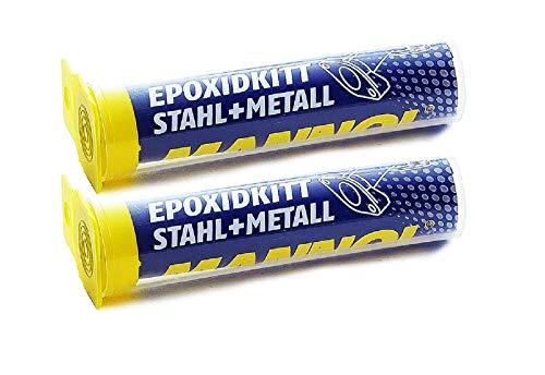MANNOL 2X 2-K Metall-Spachtelmasse hitzebeständig bis 260°C 56g