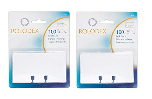 ROL67558 - Rolodex - Cartón de recambio sin rayas (1 unidad), color blanco