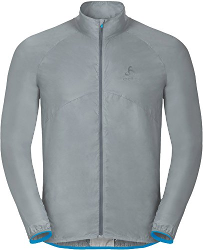 Odlo - LTTL (Lighter Than The lightest) Veste de Running pour Hommes (Noir/Gris)