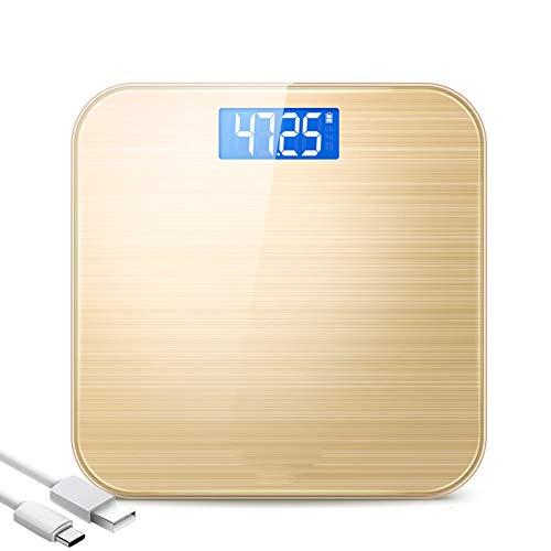 Liyan zeer nauwkeurige digitale oplaadbare personenweegschaal, met USB-aansluiting, intelligente schakelaar, 0,2 – 180 kg, huishoudweegschaal