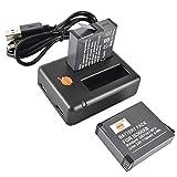 DSTE 2PCS IS360XB Rechargeable Lithium Ion Batería + Dual USB Quick Cargador Compatible para Insta360OneX Cámara