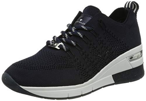 TOM TAILOR Damen 3293801 Sneaker, Navy, 39 EU