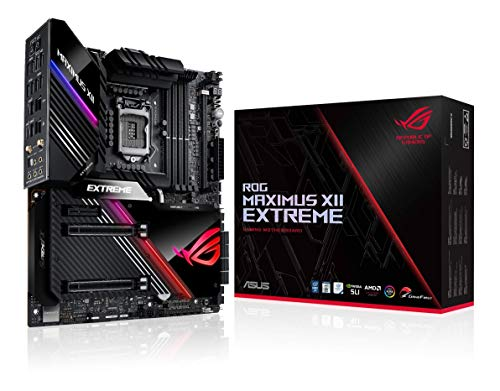 "ASUS ROG Maximus XII Extreme Z490 (WiFi 6) LGA 1200(Intel 10th Gen) EATX Gaming Motherboard (16 Power Stages, 10 G & Intel 2.5G LAN, Fan Extension Card & ThunderboltEX 3-TR Card, 2"" Livedash OLED)"