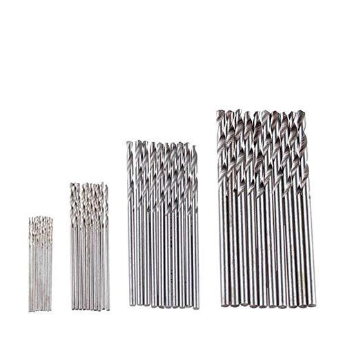 Brocas Para 40pcs / set 0.5-2.0mm de acero de alta velocidad HSS Mini Twist Drill Bits Set Vástago recto