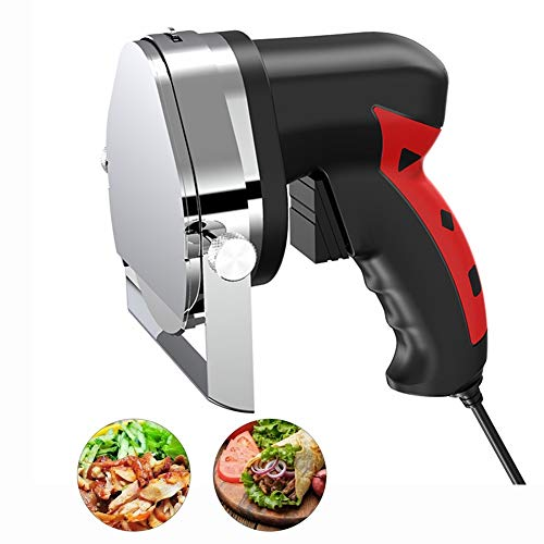 FOOSKOO Elektro Dönerschneider Edelstahl Kebab Slicer Kebab Cutter Elektrische Tranchiermesser Kebab Fleischschneidemaschinen 110/220 V Meat Slicer Machine