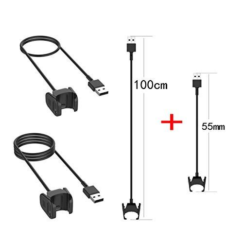 LICHIFIT 2 Piezas Cable de Carga USB Clip Cargador Cradle para Fitbit Charge 3 Fitness Monitor de Actividad