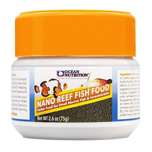 Ocean Nutrition Nano Reef Fish Food, Pellet Food for Small Marine Fish & Invertebrates 2.6-Ounce (75 Grams) Jar