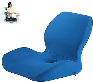 Gluckluz Seat Cushion Lumbar Support Pillow Set Memory Foam Coccyx Orthopedic Ergonomic Pads for Office Chair Car Truck Tr...