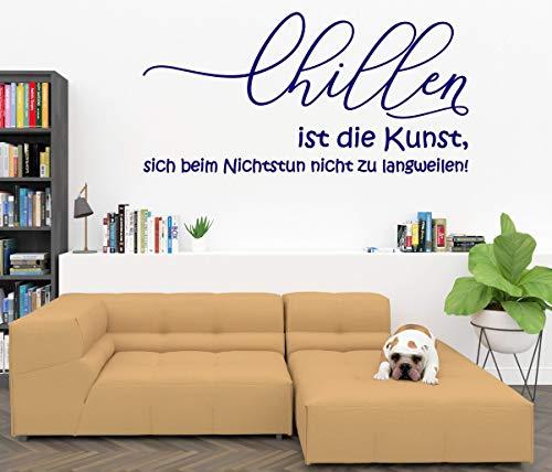 Wandtattoo-Wandaufkleber-Wandsticker ***CHILLEN ist die Kunst, sich beim Nichtstun nicht zu langweilen!*** (Größen und Farbauswahl)