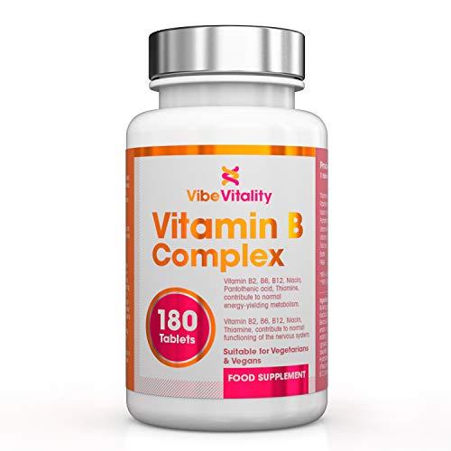 Vibe Vitality Vitamine B Complex, alle 8 B vitamines, 180 capsules, veganistisch