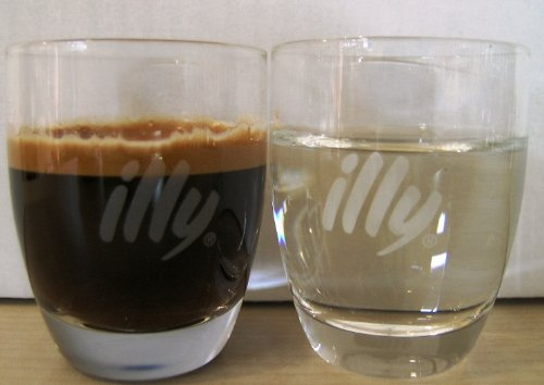 Illy Espresso Glas, für Espressino oder als Wasserglas 6 Stück