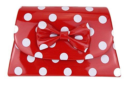 Ella Jonte Tasche rot weiß Punkte Rockabilly kleine Handtasche gepunktet Retro