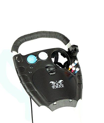 """Golftrolley Yorrx® SL Pro 7 HAMMA """"PLUS"""" Ausstattung, Golfwagen mit innovativem 360° SPIN Vorderrad (weiß) inkl. orig. Yorrx Golfhandtuch & Tees … - 3"""