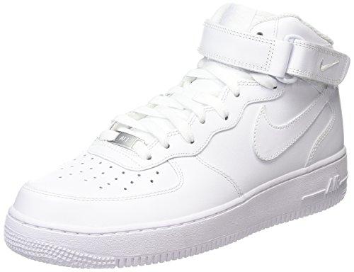 Nike Air Force 1 Mid 07 , Sneaker a Collo Alto Donna, Bianco (White), 38 EU