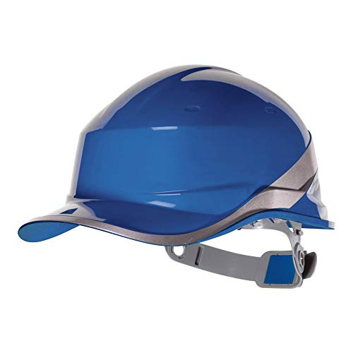Delta Plus DIAM5 Baseball Shape Safety Cap, Adjustable, Blue (20 units)