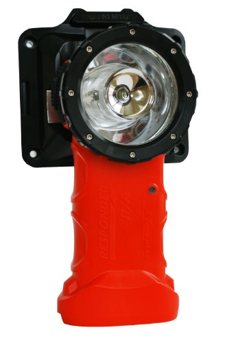 BrightStar Responder Right Angle Flashlight, Rechargeable w/ 120V AC Charger, Intrinsically Safe UL Certified, 220 Lumens LED For Fire Rescue, Work, Industrial Use, Emergencies, and More