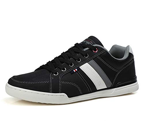 AX BOXING Sneakers Hombre Zapatos Casual Zapatillas Moda Ligero Deporte Gimnasio Running Tamaño 41-46 (Negro, Numeric_44)