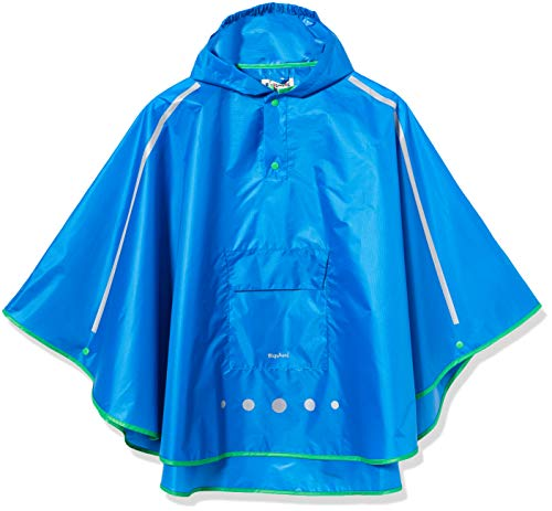 Playshoes Unisex Kinder Regenponcho faltbar Regenjacke, blau 7, S