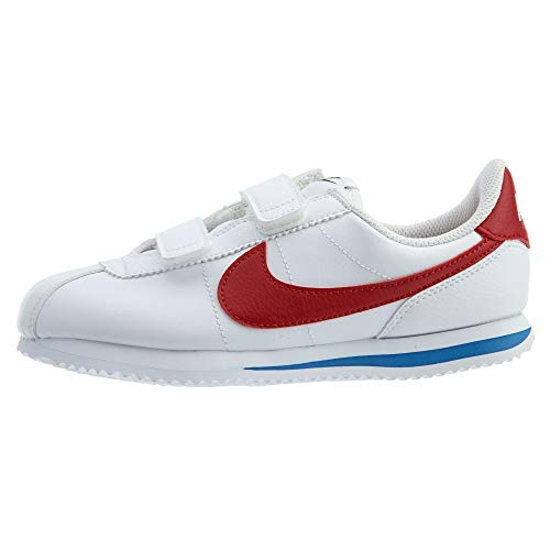 Nike Kids Boy's Cortez Basic SL (Little Kid) White/Varsity Red/Varsity Royal/Black 3 Little Kid