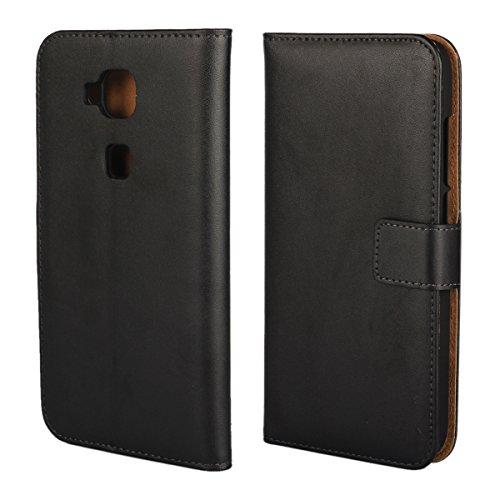 Copmob Funda Huawei G8,Funda Huawei GX8,Clásico Flip Billetera Funda de Cuero,[3 Ranuras para Tarjetas][Soporte Plegable], Carcasa Cover Case para Huawei G8/GX8 - Negro