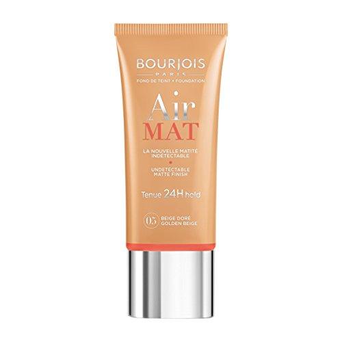 Bourjois Fondotinta Air Mat Foundation, Fondotinta Liquido Opacizzante a Lunga Tenuta, 05 Golden Beige