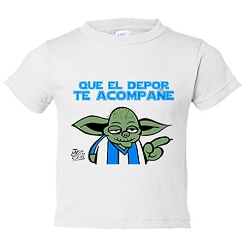 Camiseta niño que el Depor te acompañe - Blanco, 3-4 años