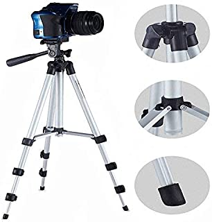 HUMBLE Professional Tripod - 3110 Portable & Foldable Camera - Mobile Tripod With Mobile Clip Holder Bracket , Fully Flexible Mount Cum Tripod , Standwith Three-dimensional Head & Quick Release Plate Only 150 gm.
