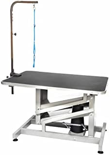 Go Pet Club 36 in. Pet Dog Z-Lift Hydraulic Grooming Professional Table with Arm