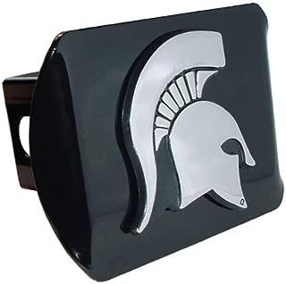 Elektroplate Michigan State Spartan Head Black Standard Metal Hitch Cover