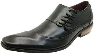 [バンプ アンド グラインド] Bump N'GRIND ロングノーズ ビジネスシューズ アシンメトリー レースアップ 天然皮革 靴/6001