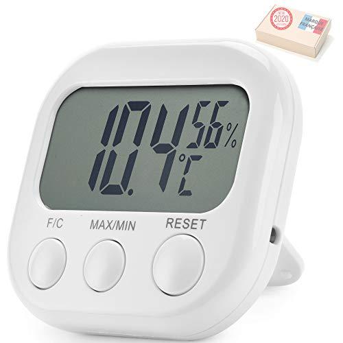Takit Thermometer Innen Hygrometer - 5 Jahre GARANTIE - Raumthermometer - Hohe Genauigkeit - Digitale Temperatur Und Luftfeuchtigkeitsanzeige