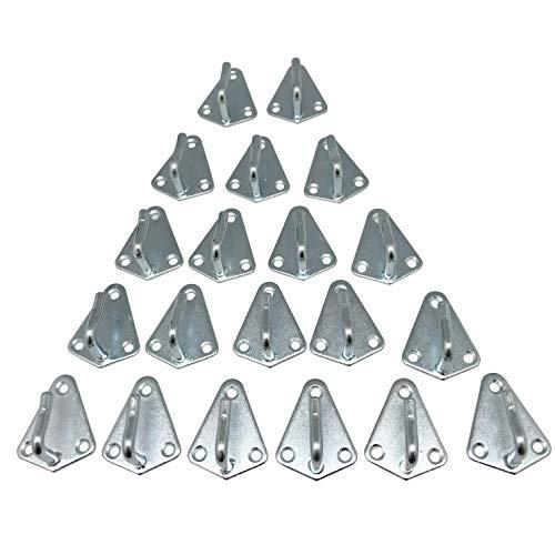 Votoka 20 Stück Dreiloch Planenhaken 50x40mm hochwertig gestanzt verzinkt